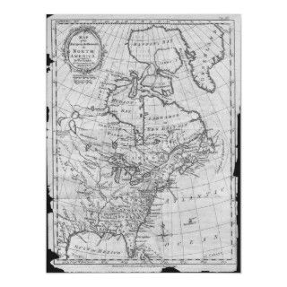 Very rare and early map of the European Settlements in North America