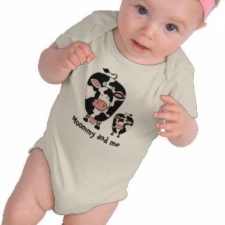 Mummy & Me Funny Humor Cow Baby Tee Shirt