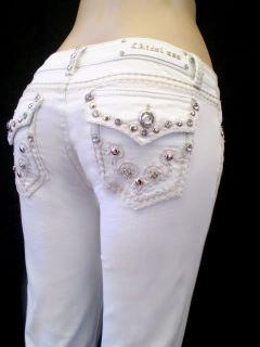 La Idol White Jeans Tribal Tattoo Fleur de Lis 0 15