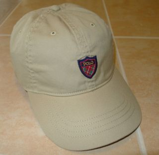 New Polo Ralph Lauren Golf Classic Plaid Logo Shield Cap Mens Hat