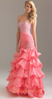 Fabulous Mermaid Gown Beading Prom Dress Evening Party Ball Size 6 8