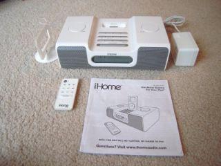 iHome IH8 Dual Alarm Clock Radio iPod Speaker System Docking Station