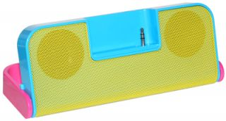 iHip Fold Up Portable Speaker System Compact Mobile Audio  Sharing