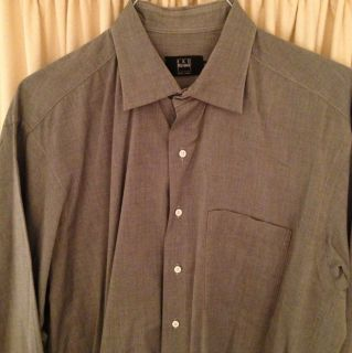 Ike Behar Mens Dress Shirt Sz 17 35