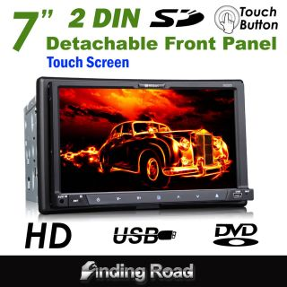 D2223 Milion 2 DIN Detachable 7 HD Car DVD Stereo Player Touch
