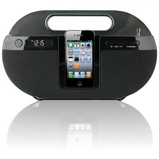 ILIVE APP ENHANCED PORTABLE BOOMBOX IPHONE 3G 4 CHARGER SPEAKER DOCK