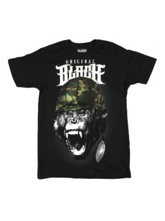 Rook Clothing Mens Born to Ill Graphic T Shirt Black New