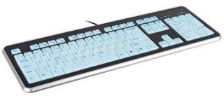 Full Size USB Illuminated Multimedia Keyboard PC Laptop Netbook PS3 UK
