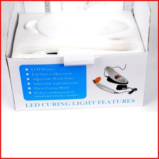 White Dental Wireless Cordless LED Curing Light LAMP1800MW Woodpecker