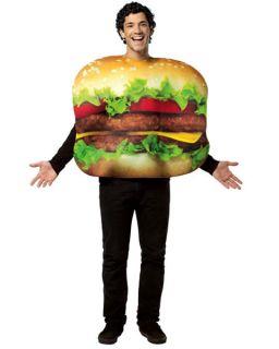 Unisex Flat Cheeseburger Adult Halloween Costume