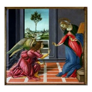 Annunciation by Sandro Botticelli Posters