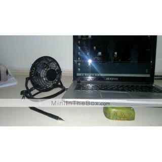 usb mini super fã de desktop (preto)
