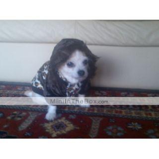 Leopard Print sherpa coat calda felpa con cappuccio per i cani (XS XL