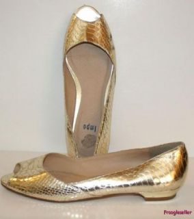 Impo Womens Arenia Open Toe Low Heel Shoes 7 5 M Gold