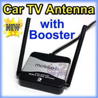 New Car TV FM Radio Antenna Aerial with Amplifier Booster Gain