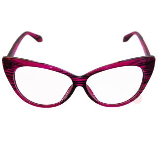 50s Cat Eye Clear Glasses Pink Retro Rockabilly Pin Up Pointed
