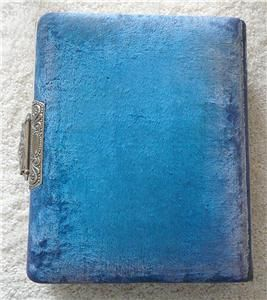 Celluloid and Velvet Victorian Cabinet Card Photo Album ~ 18 Unusual