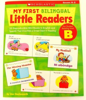 Bilingual Spanish Mini Books Teacher Resource Kindergarten 1st 2nd