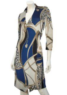 Matt Jersey Collar Wrap Day Night Dress Imogen New Sz 10