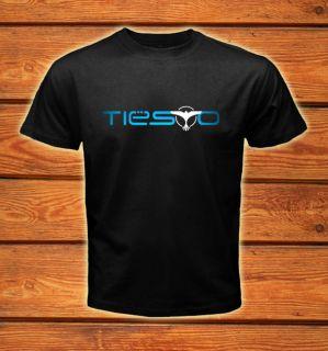 DJ Tiesto Trance Logos Black T Shirt Tee Size s 2XL