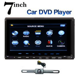 Double 2 Din In Dash Auto Video Car DVD CD Player Stereo Radio USB SD