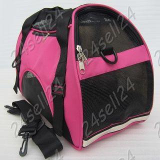 Dog Cat Bag Puppy Tote Handbag Pet Carrier Travel Cage Pink 16 9X7