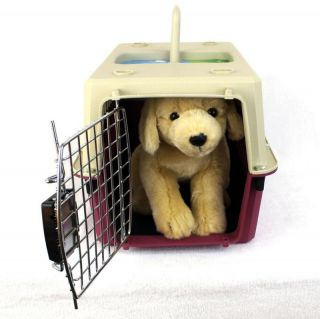 Dog Puppy Cat Pet Travel Carrier Crate Kennel Cage Rose