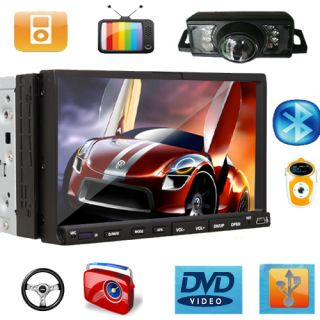 DIN 7 Car in Dash DVD Player Stereo Radio iPod TV  Camera