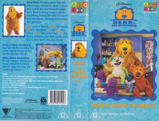 BEAR IN THE BIG BLUE HOUSE HOME IS WHERE THE BEAR IS VHS VIDEO PAL A