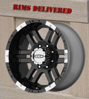16 inch Black Wheels Rim Moto Metal 951 Ford F250 F 350 8 Lug Trucks