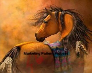 Indian Warrior Horse Cross Stitch Pat Native American