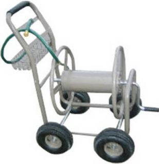 GT 300 ft x 5 8 inch Garden Hose Reel Cart with Basket