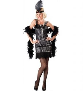 Flirty Flapper Costume Dress Adult Large New