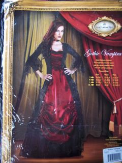 Incharacter Girls Women Lady Gothic Vampire Dracula Halloween Costume