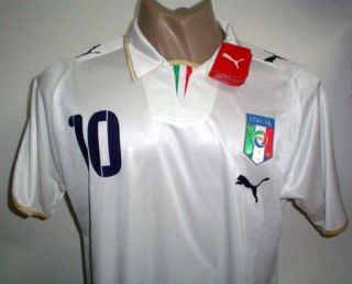 Original Puma Italy Away Soccer Jersey Totti 10 All Sizes