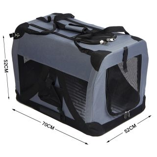 Portable Pet Dog Cat House Soft Travel Crate Carrier Cage Kennel US