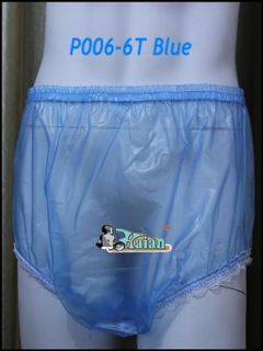 pcs of ADULT BABY incontinence PLASTIC PANTS with lace P006 6T Size