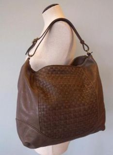 JCrew Indio Leather Hobo $325 Satchel Bag Purse Tote Cobblestone