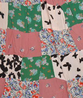 Indian Womens Crape Patchwork Long Skirt Designer Gypsy Hippie Boho
