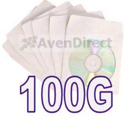 White Paper Sleeve Window Flap CD DVD SHIP FedEx Ground Fast