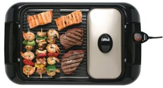 Sanyo HPS SG4 Extra Large Indoor Barbecue Grill and Griddle Lightly ...