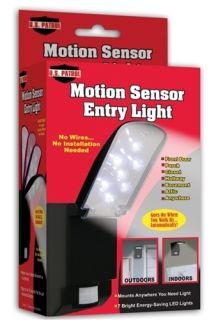 Motion Sensor Entry Light 7 Bright LED Indoor Outdoor Door Porch