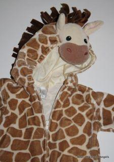 MINIWEAR Baby Giraffe Halloween Costume Size 6 9 Months Zip Front