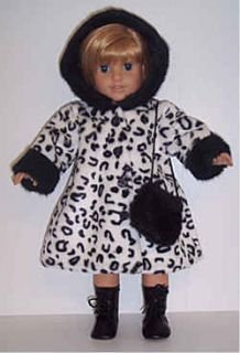 Doll Clothes Fits American Girl Dalmation Coat Purse