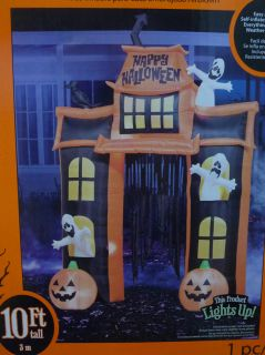 NEW Halloween Inflatable Airblown Haunted House Archway 10ft Tall