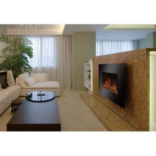 Greenheat Contemporary Flat Panel Infrared Quartz Wall Fireplace