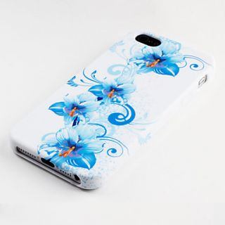 USD $ 3.49   Blue Flower Pattern Soft Case for iPhone 5,