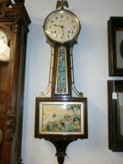 Ingraham Clock Co Treasure Island Banjo Clock
