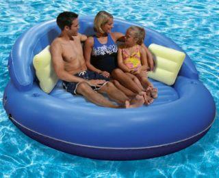 Inflatable Lake Floating Pool Island Raft Mattress Seat
