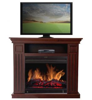 Vent Free Electric Infrared Quartz Fireplace Heater Media